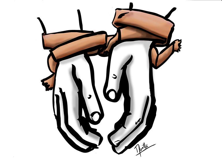 Ilustración de Santi Morilla sobre una detención