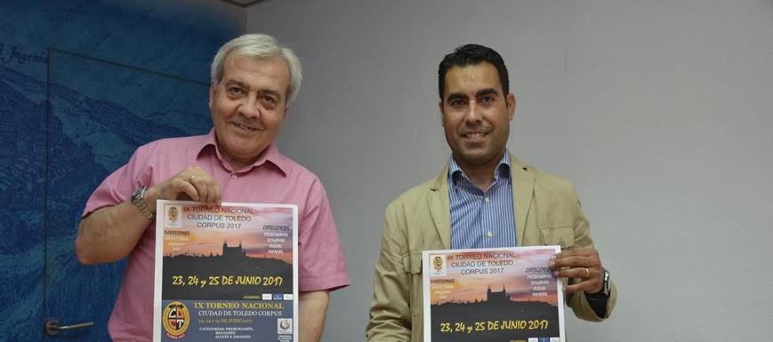 Del Pino (izquierda) y Andreu Linares han presentado el torneo Ciudad de Toledo