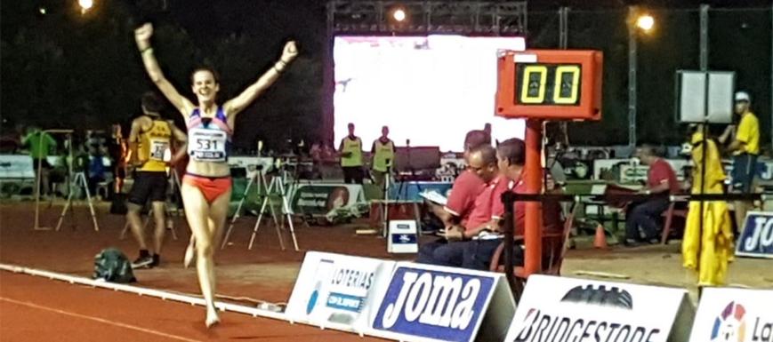 Ana Lozano, campeona de España de 5.000 ml. (foto de la RFEA subida de @analoCL
