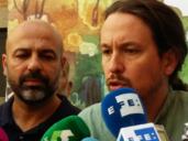 José García Molina y Pablo Iglesias
