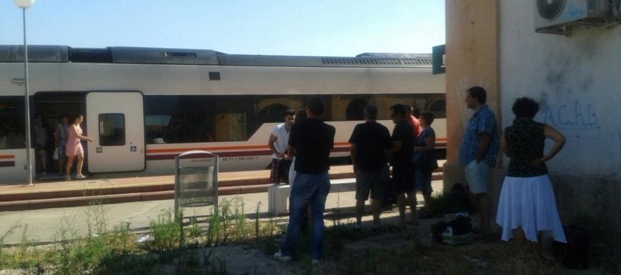 Tren de Talavera a Madrid que quedó averiado