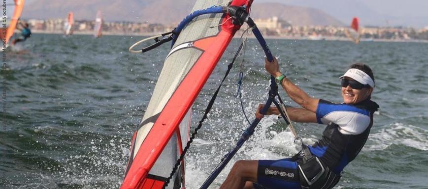 Pilar Prieto, subcampeona de España de windsurf con CLM