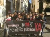 La Plataforma ¡Hospitalito Ya! ha llegado hasta el Palacio de Fuensalida para entregarle una carta a Page