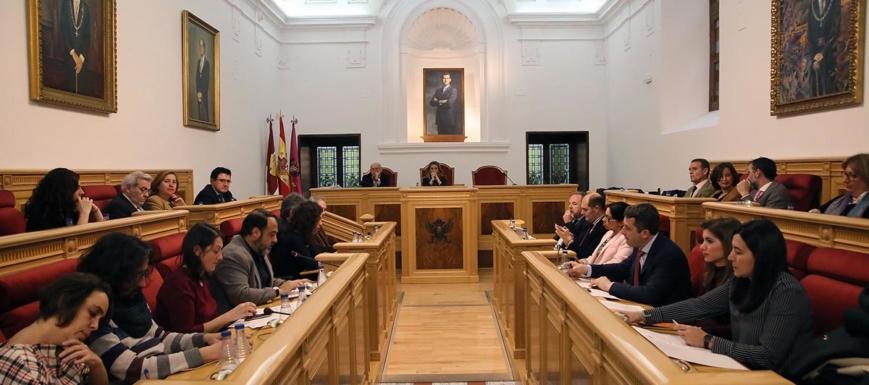 Pleno de Toledo, en el que se han aprobado las cuentas de 2018