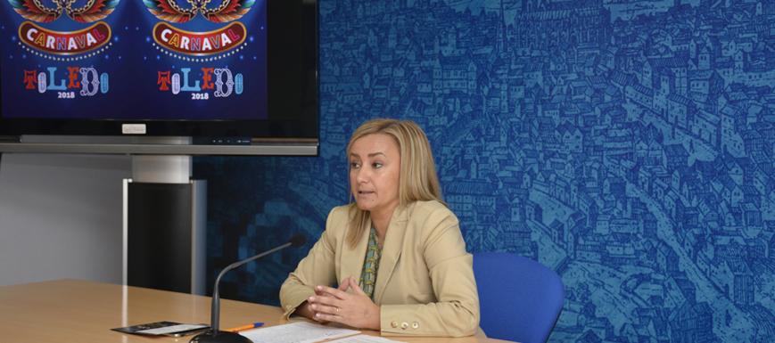 Maite Puig, concejala de Festejos, presenta la programación de Carnaval 2018.