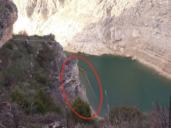 El escaso volumen de embalse en Entrepeñas deja al descubierto la antigua carretera Sacedón-Guadalajara