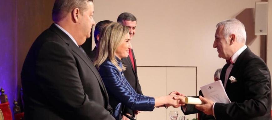 Milagros Tolón felicita a Adolfo Muñoz por su Presidencia de Saborea España