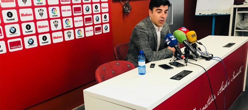 El director deportivo del Albacete, Nico Rodríguez