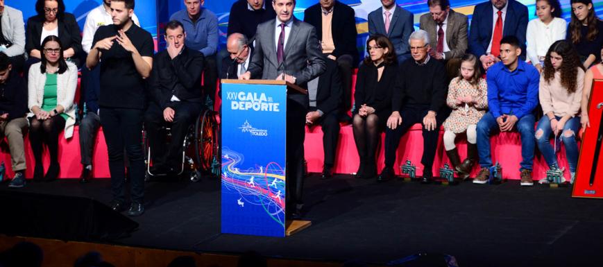 Álvaro Gutiérrez en la Gala del Deporte, el dia de los deportistas de Toledo