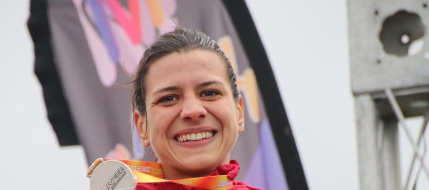 Irene Sánchez-Escribano, con la plata del Nacional de cross por autonomías