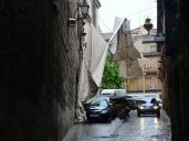 Las imágenes de los toldos del Corpus de Toledo, arrasados por la tormenta