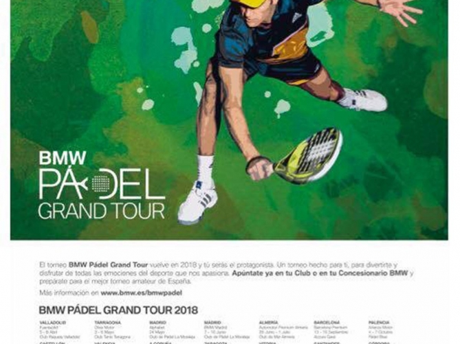 Cartel del BMW Pádel Grand Tour