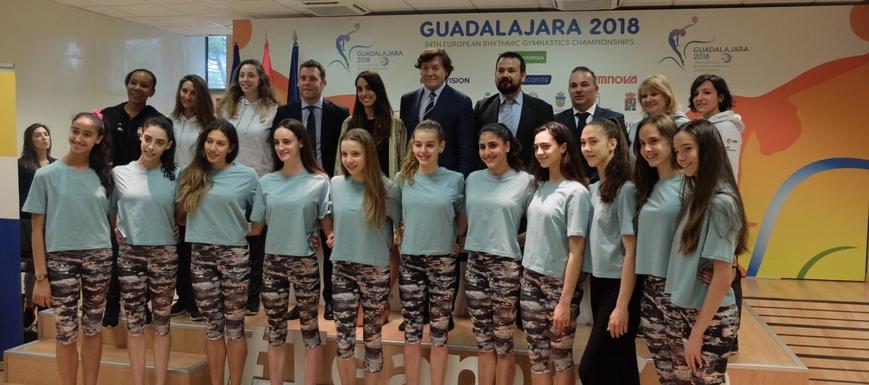 Detalle de la presentación del Europeo de gimnasia rítmica que acoge Guadalajara