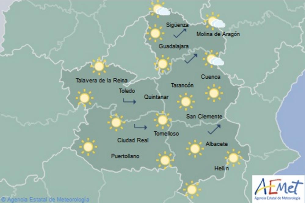 Hoy, jueves 26, despejado y con avisos por altas temperaturas en el ...