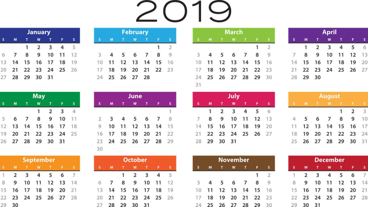 Calendario Laboral 2019 Andalucia.El Calendario Laboral De 2019 Recoge 12 Dias Festivos Y Dos Puentes