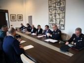 Junta Local de Seguridad de Toledo en la que se coordinaron las medidas de tráfico y seguridad