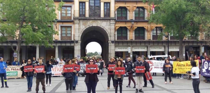 Manifestación de la Coordinadora Antitaurina de Castilla-La Mancha