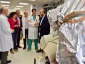 José Luis Martínez Guijarro, anunciando una sala de hemodinámica en el Hospital Virgen de la Luz