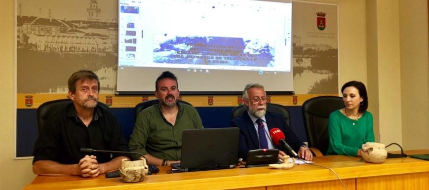Jaime Ramos, informando de unos restos de un foro romano en Talavera