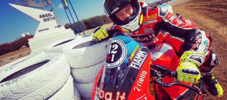 Álvaro Bautista, tras la prueba de Jerez