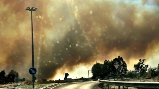 Incendio en Toledo