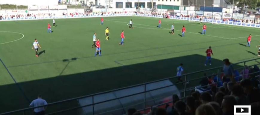 El partido entre el Bergantiños y el Formac Villarrubia, al principio del mismo