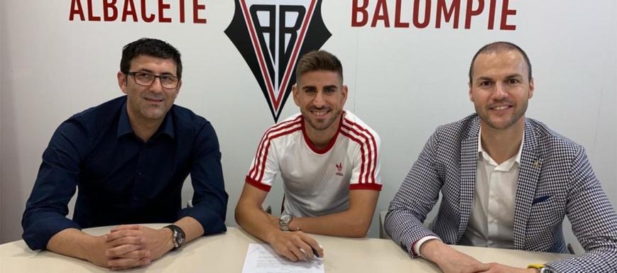 Dani Ojeda, en la presentación como nuevo jugador del Albacete