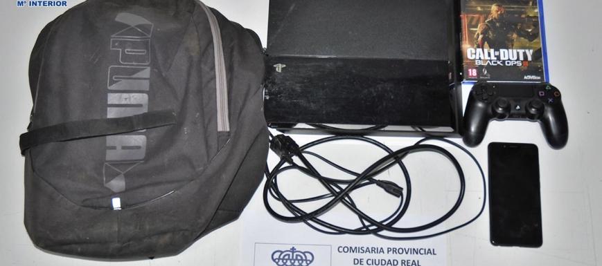 La videoconsola y el móvil robados a una persona en Ciudad Real