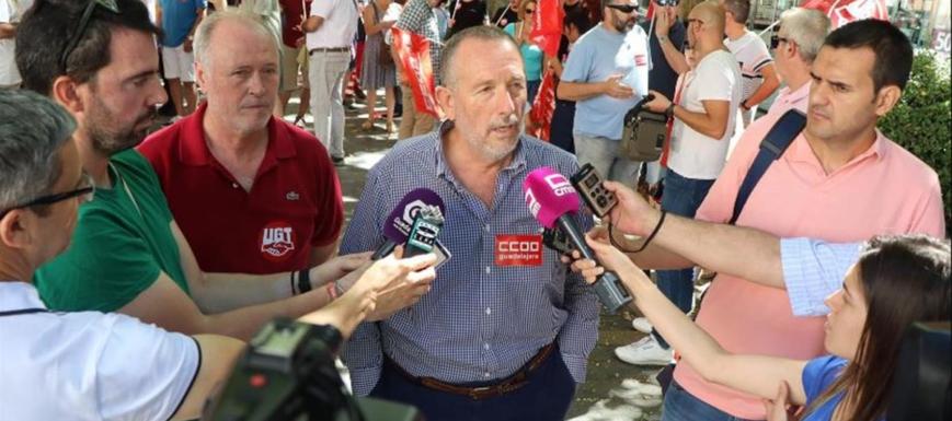 Manifestación de los sindicatos por la alta siniestralidad laboral en Guadalajara