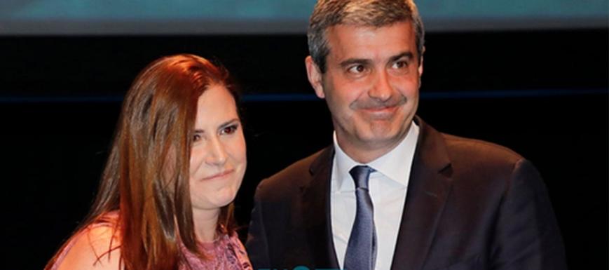 Excelentes 2019: Álvaro Gutiérrez, con la alcaldesa de Cebolla
