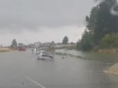 173 incidencias en cuatro horas por achiques de agua y obstáculos en la calzada: 122 en Guadalajara y 49 en Toledo