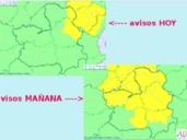 Alerta amarilla por lluvias y tormentas en las comarcas de Paramera de Molina (Guadalajara) y Serrania de Cuenca