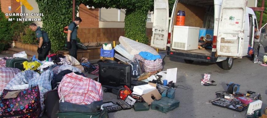 Material robado intervenido al grupo supuestamente criminal de los siete vecinos de Albacete