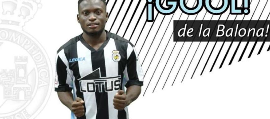Koroma, autor del gol de la victoria de la RB Linense contra el Villarrobledo