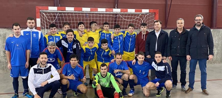 Fútbol sala inclusivo en Santa Olalla