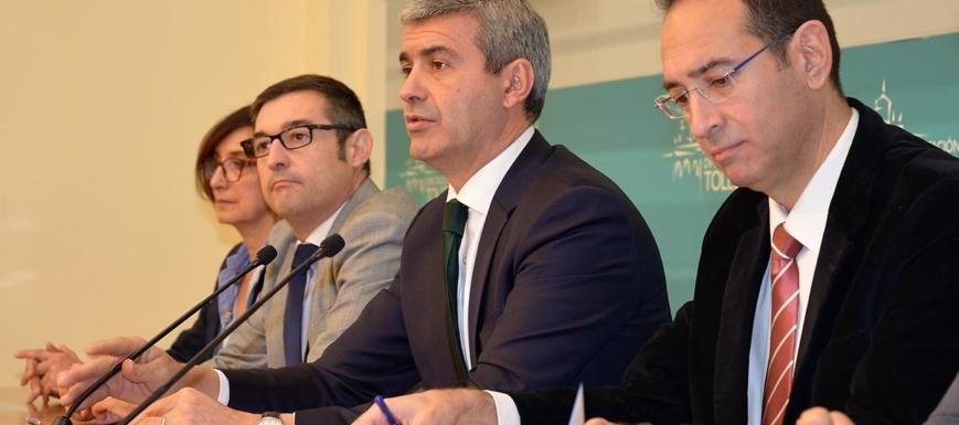 Foto de archivo del presidente y los vicepresidentes de la Diputación de Toledo