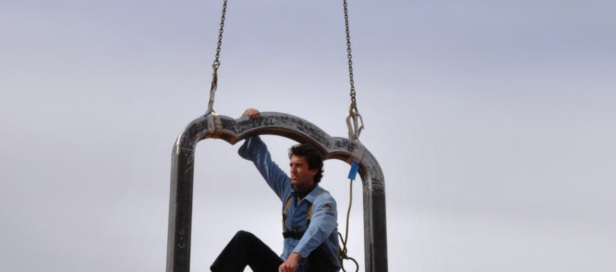 El escultor Juan Garaizábal