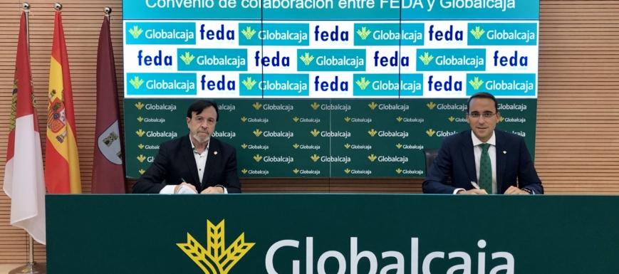 Firma de convenio entre FEDA y Globalcaja